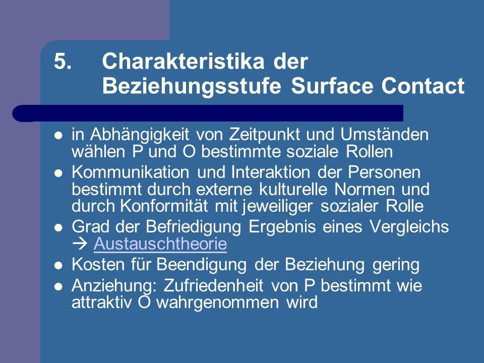 5. Charakteristika der Beziehungsstufe Surface Contact