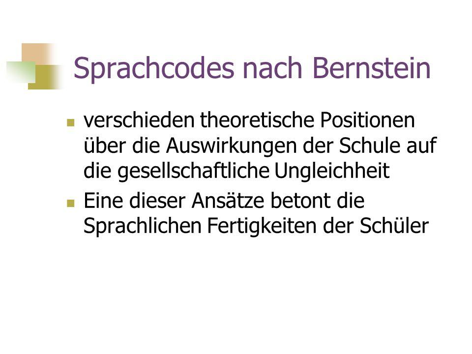 Sprachcodes nach Bernstein
