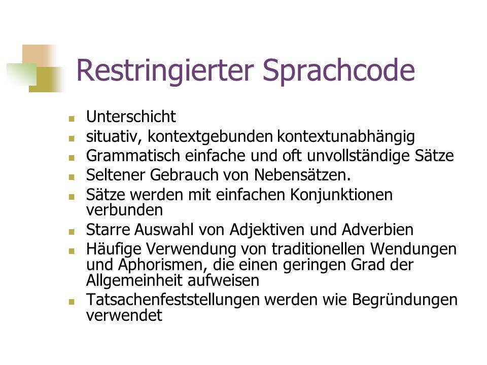 Restringierter Sprachcode