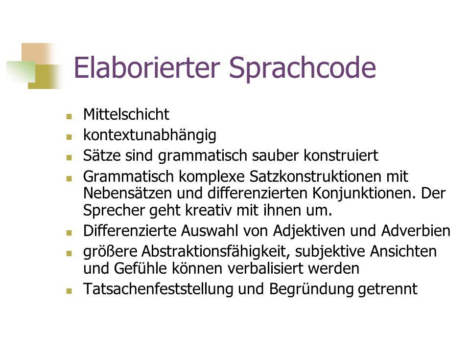 Elaborierter Sprachcode