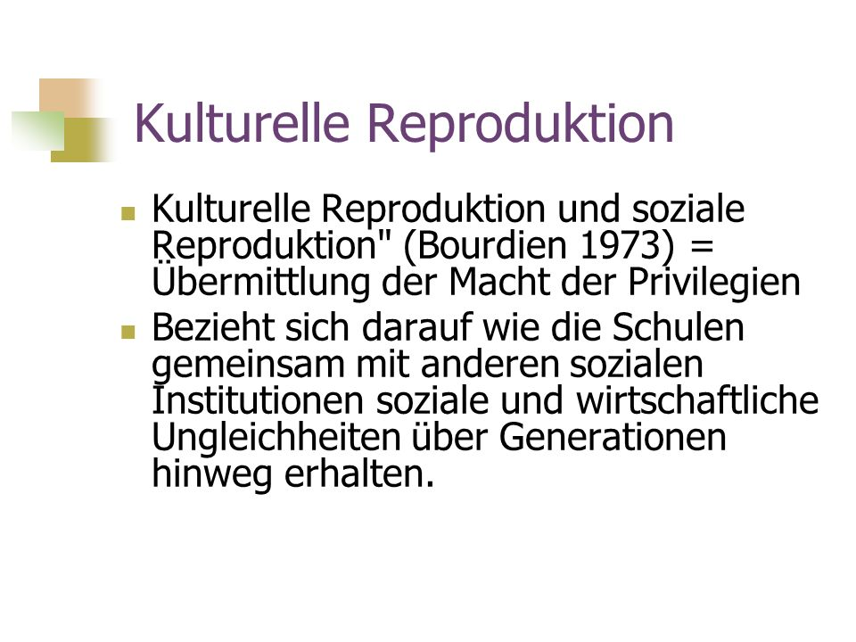 Kulturelle Reproduktion