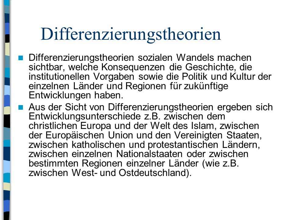 Differenzierungstheorien