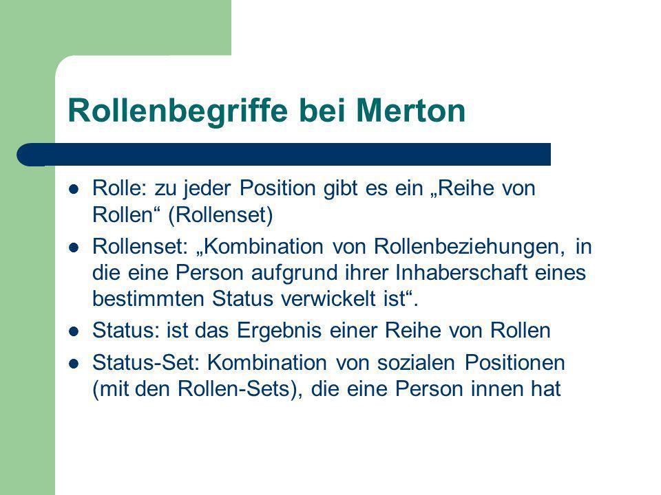 Rollenbegriffe bei Merton