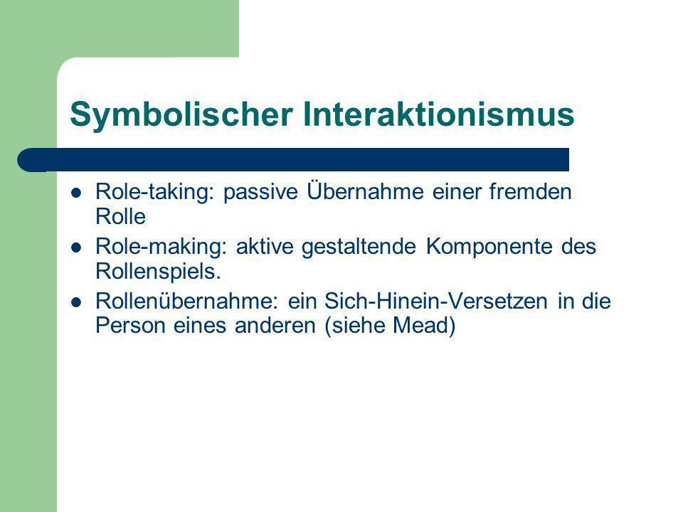 Symbolischer Interaktionismus
