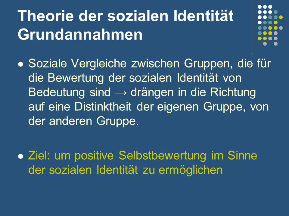 Theorie der sozialen Identität Grundannahmen