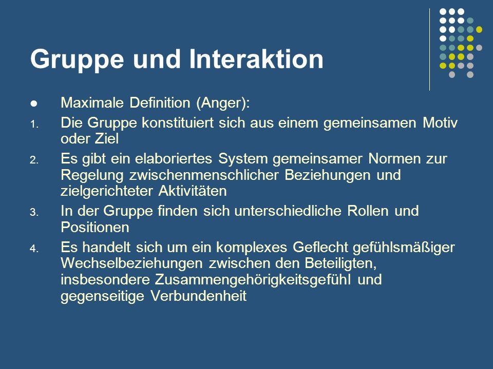 Gruppe und Interaktion