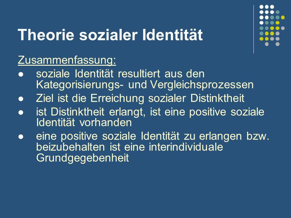 Theorie sozialer Identität