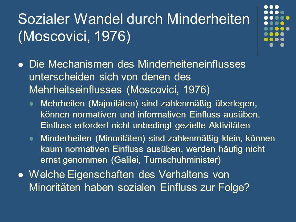 Sozialer Wandel durch Minderheiten (Moscovici, 1976)