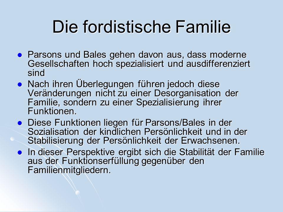 Die fordistische Familie
