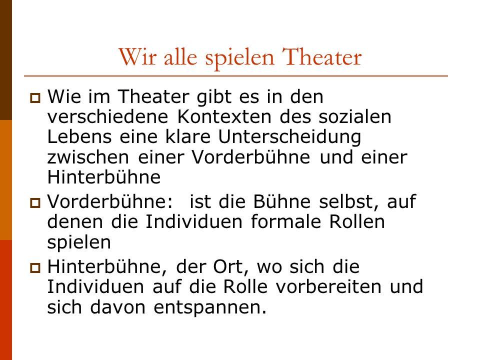 Wir alle spielen Theater