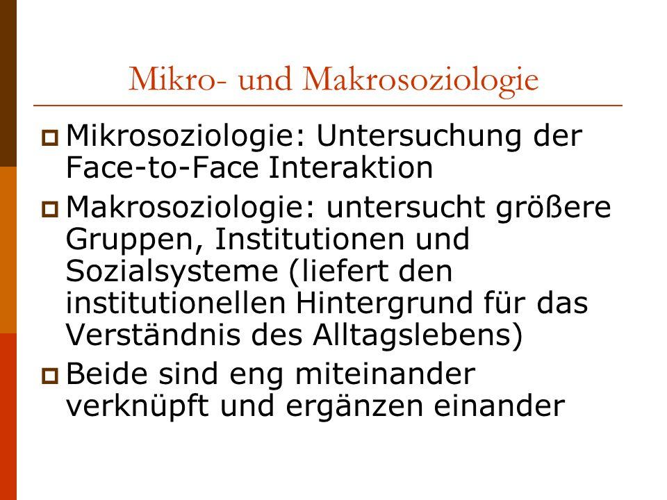 Mikro- und Makrosoziologie