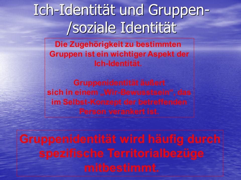 Ich-Identität und Gruppen- /soziale Identität