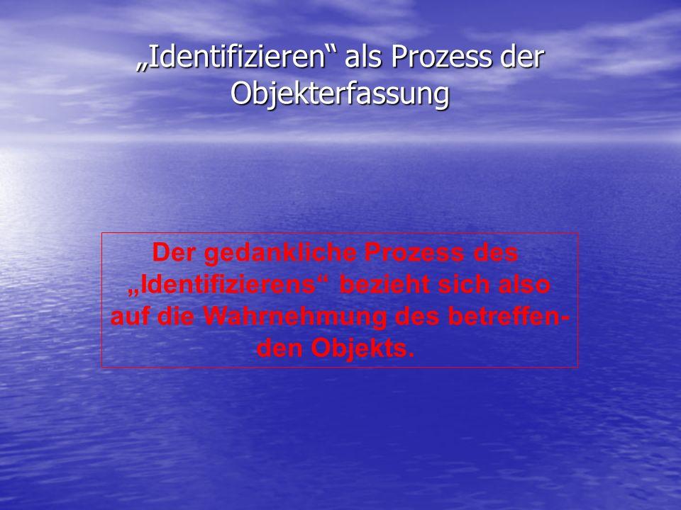 """""""Identifizieren als Prozess der Objekterfassung"""