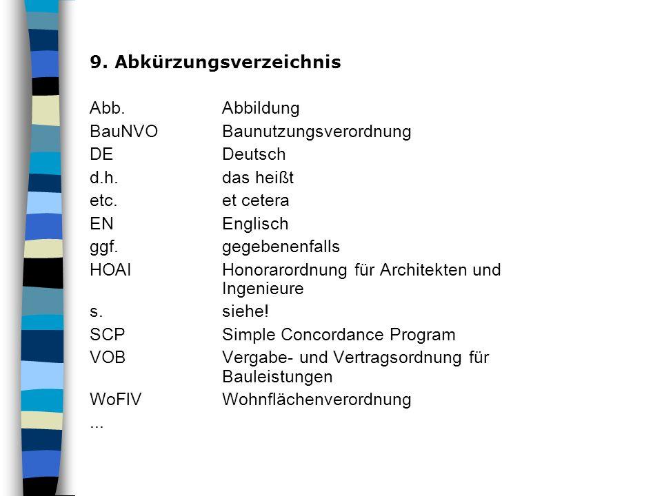 9. Abkürzungsverzeichnis