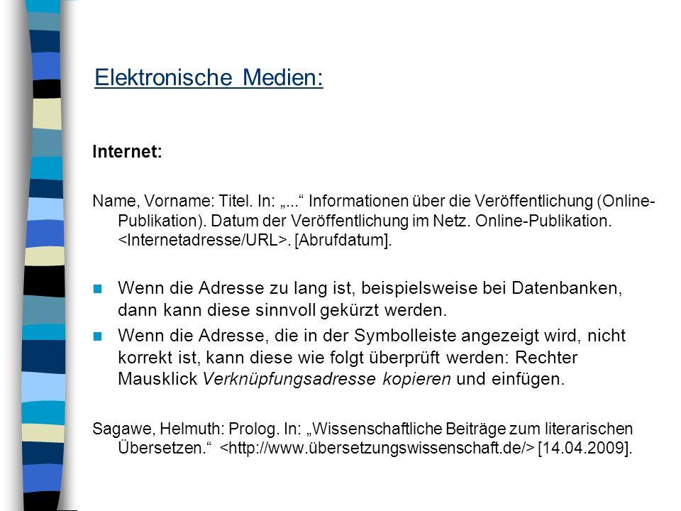 Elektronische Medien: