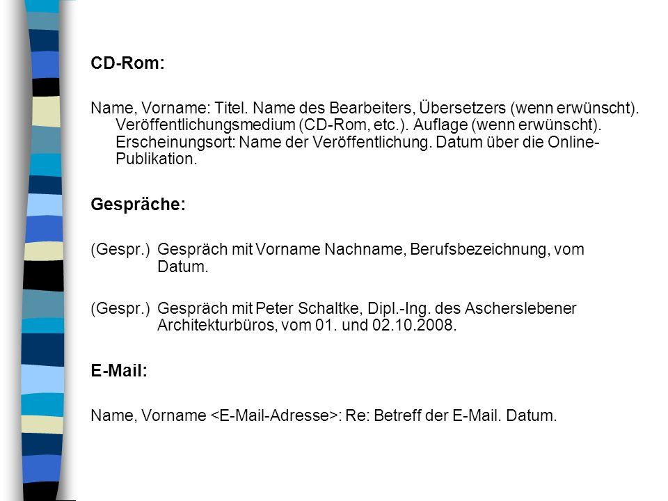 CD-Rom: Gespräche: E-Mail: