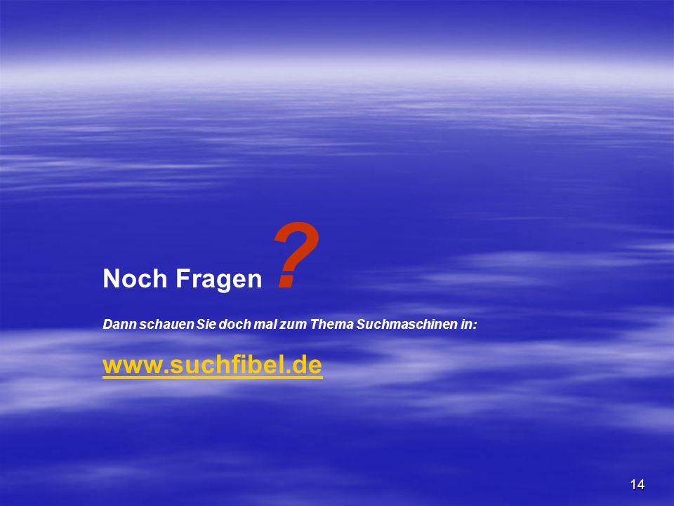 Noch Fragen www.suchfibel.de