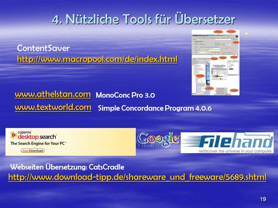 4. Nützliche Tools für Übersetzer