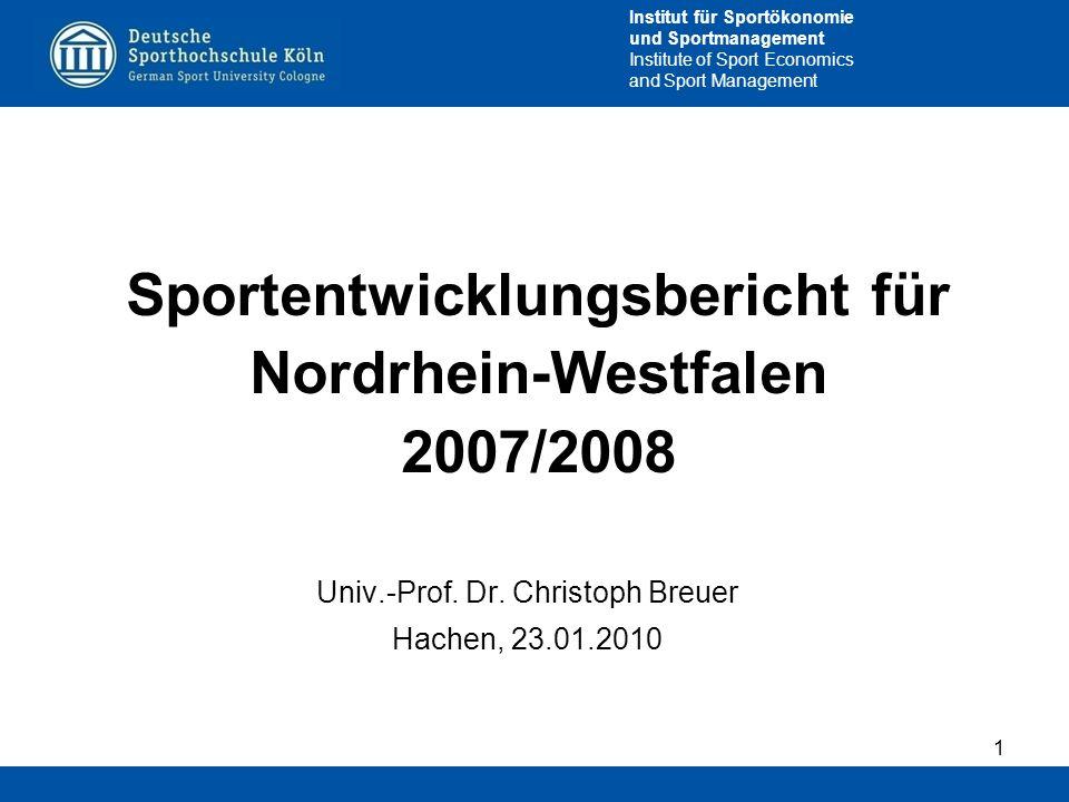 Sportentwicklungsbericht für Nordrhein-Westfalen 2007/2008