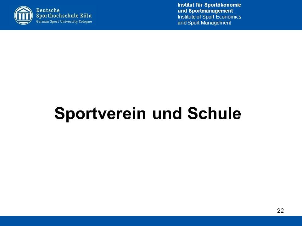 Sportverein und Schule