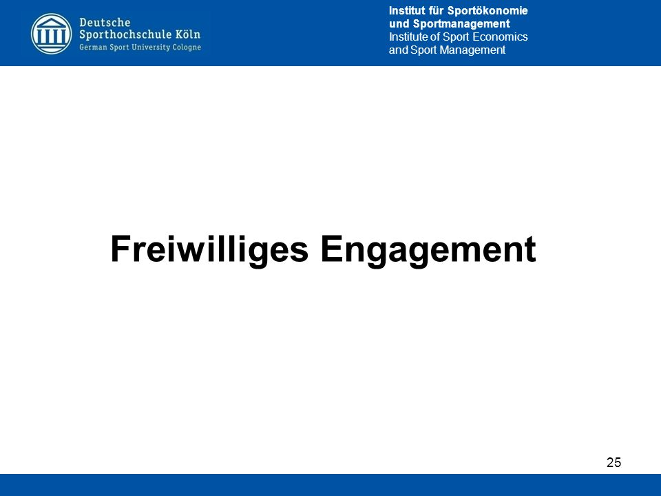 Freiwilliges Engagement