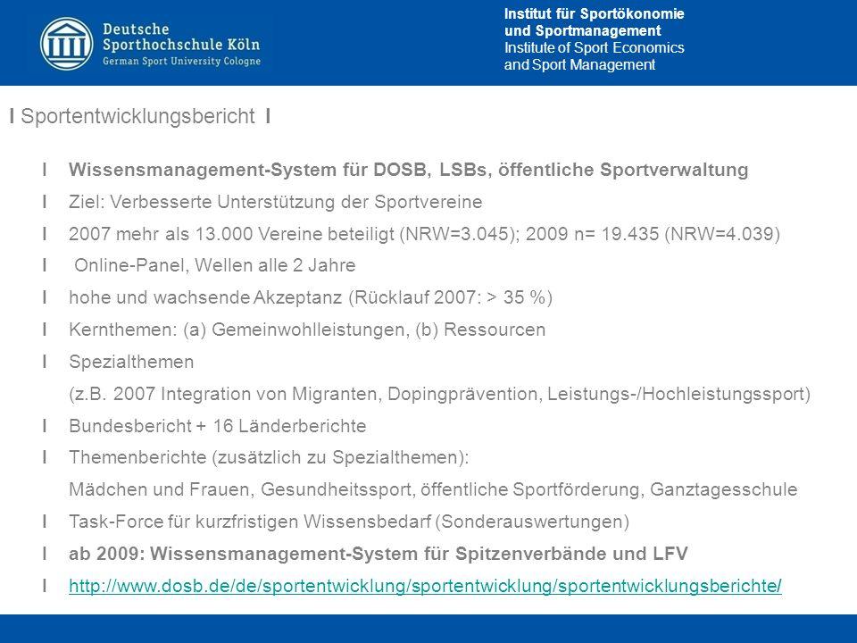 I Sportentwicklungsbericht I