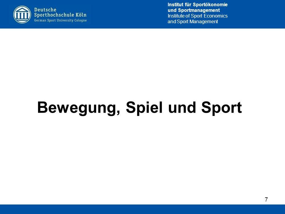 Bewegung, Spiel und Sport