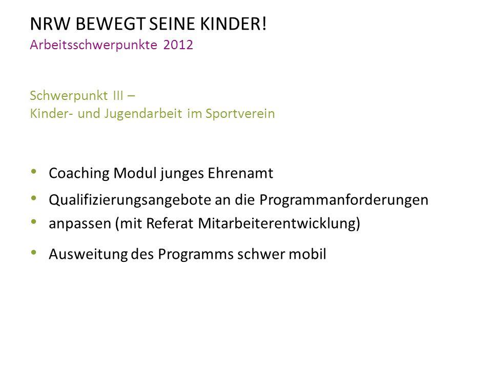 NRW BEWEGT SEINE KINDER