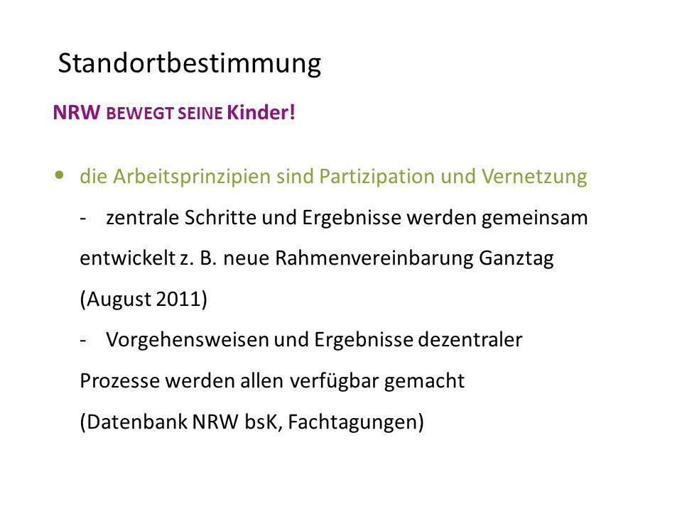 Standortbestimmung NRW BEWEGT SEINE Kinder!