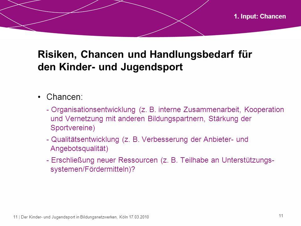 Risiken, Chancen und Handlungsbedarf für den Kinder- und Jugendsport