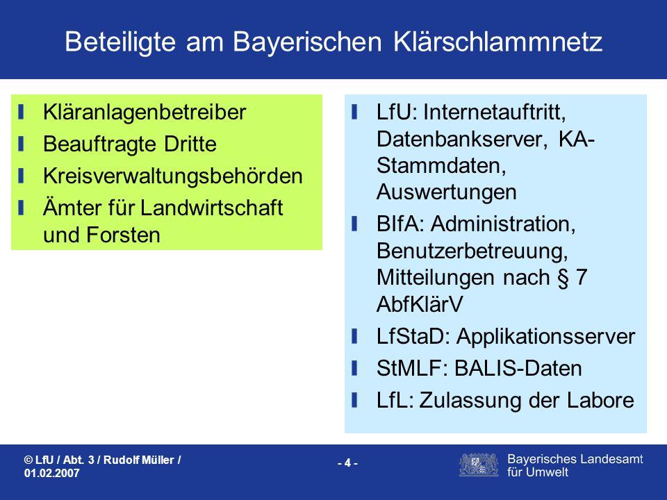 Beteiligte am Bayerischen Klärschlammnetz