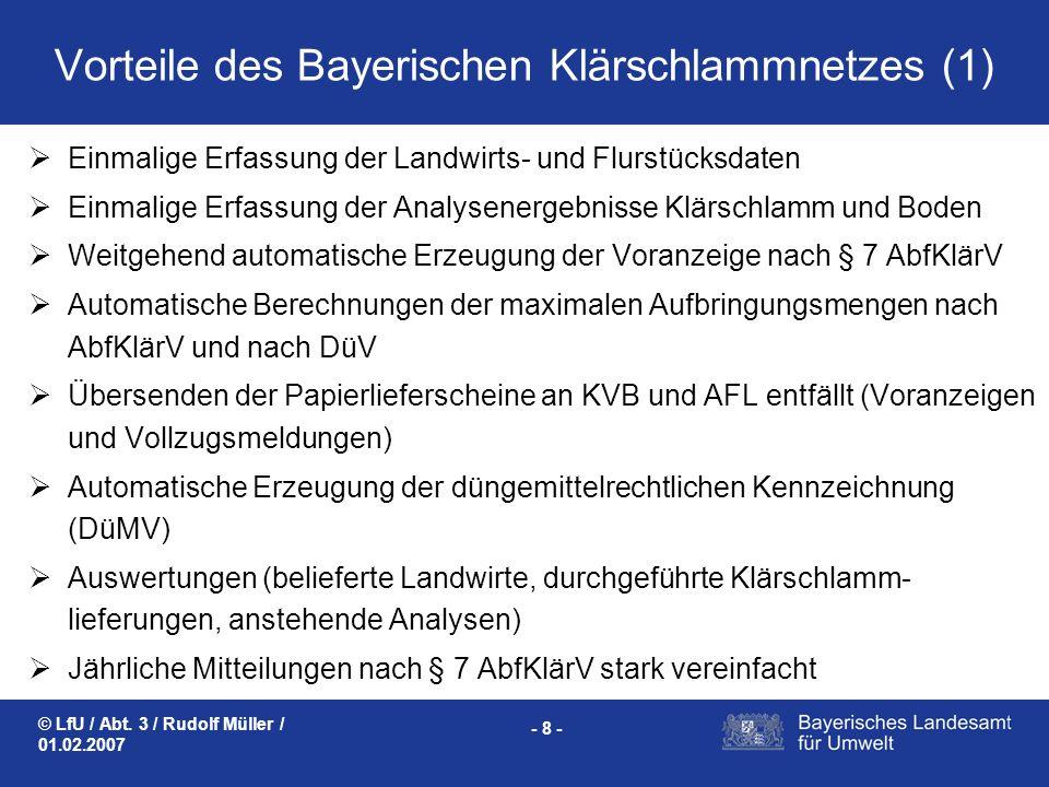 Vorteile des Bayerischen Klärschlammnetzes (1)