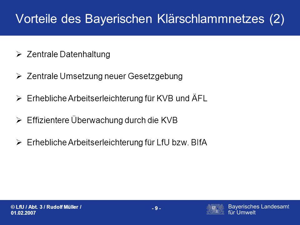 Vorteile des Bayerischen Klärschlammnetzes (2)