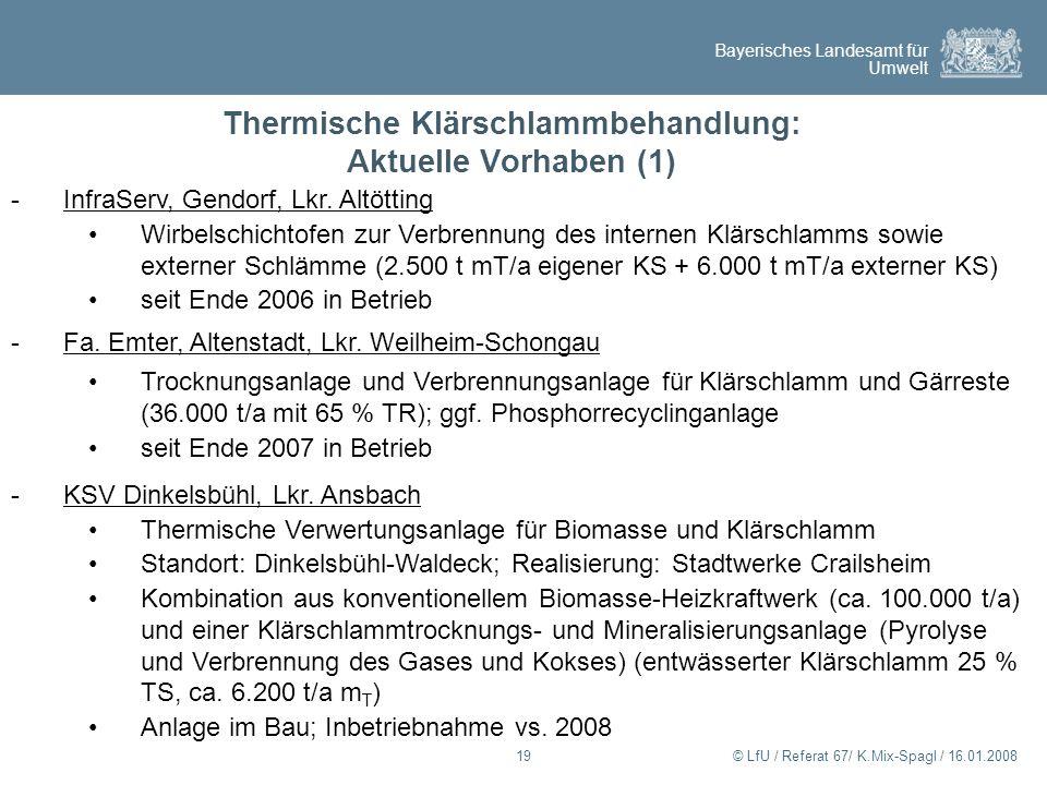 Thermische Klärschlammbehandlung: Aktuelle Vorhaben (1)