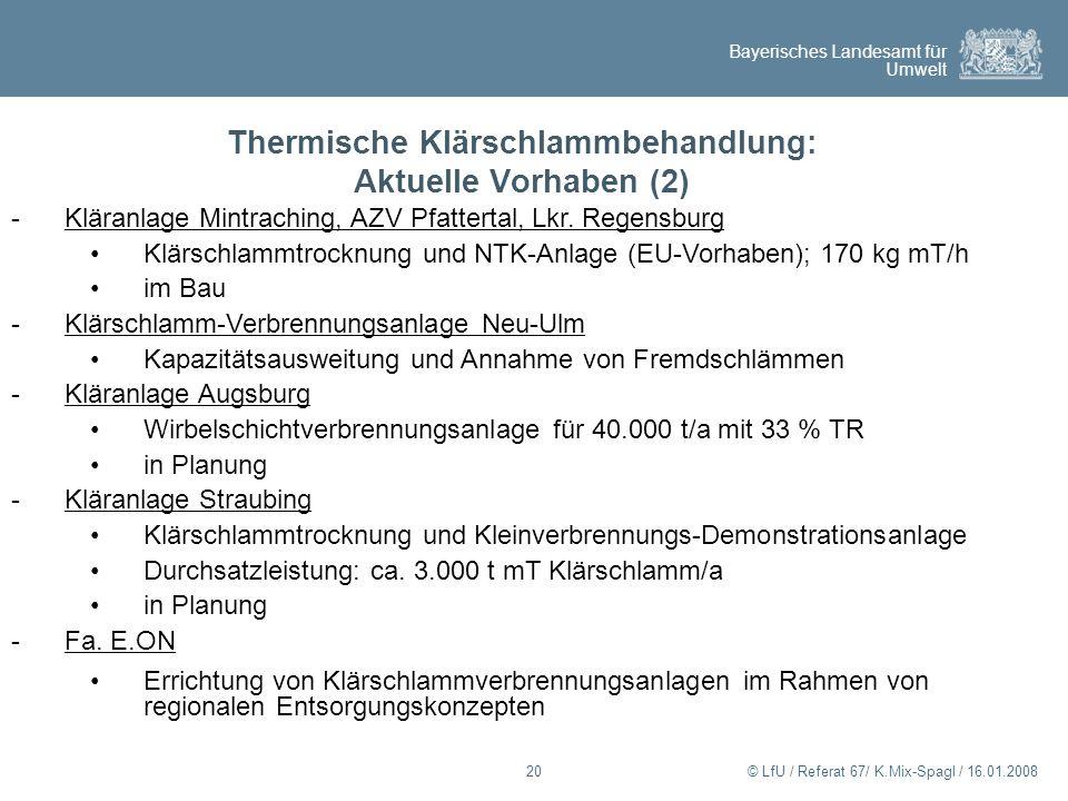 Thermische Klärschlammbehandlung: Aktuelle Vorhaben (2)