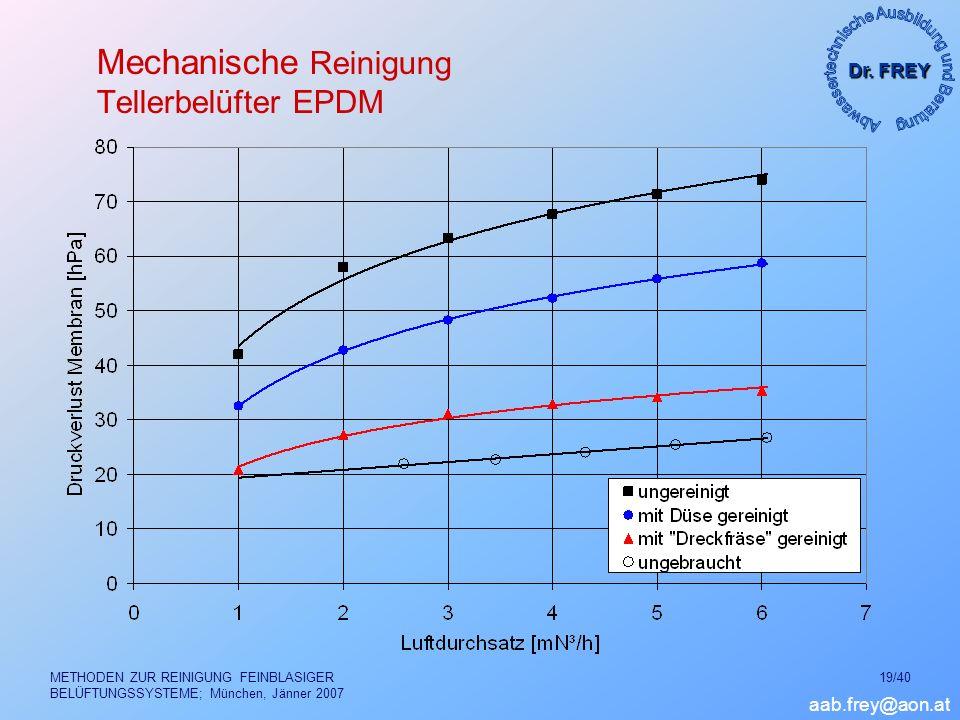Mechanische Reinigung Tellerbelüfter EPDM