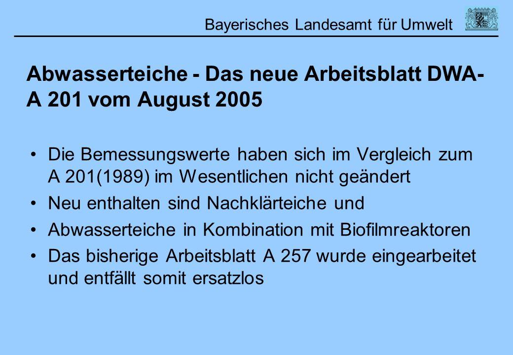 Abwasserteiche - Das neue Arbeitsblatt DWA-A 201 vom August 2005