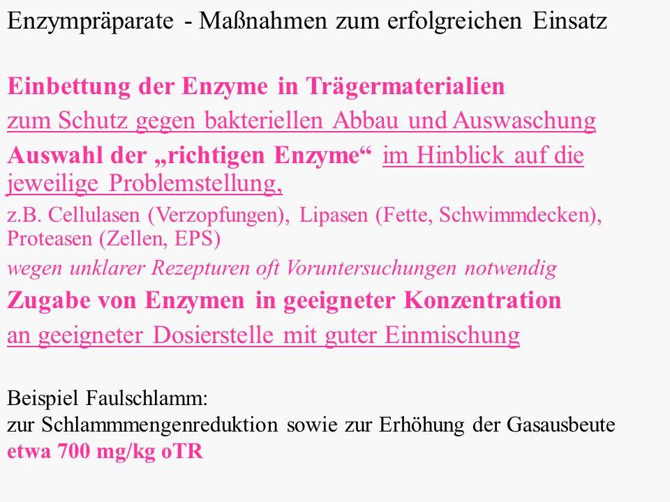 Enzympräparate - Maßnahmen zum erfolgreichen Einsatz