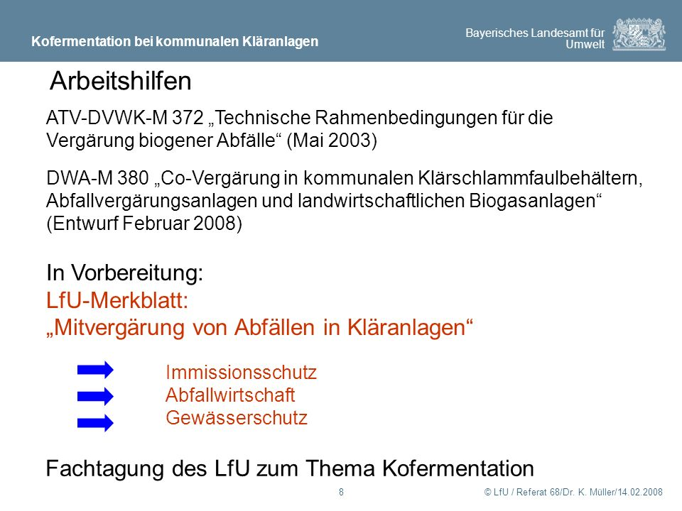 Arbeitshilfen In Vorbereitung: LfU-Merkblatt: