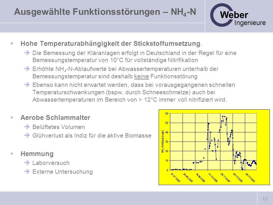 Ausgewählte Funktionsstörungen – NH4-N