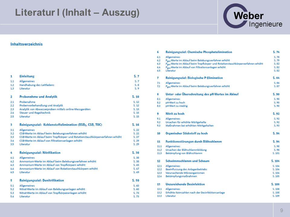 Literatur I (Inhalt – Auszug)