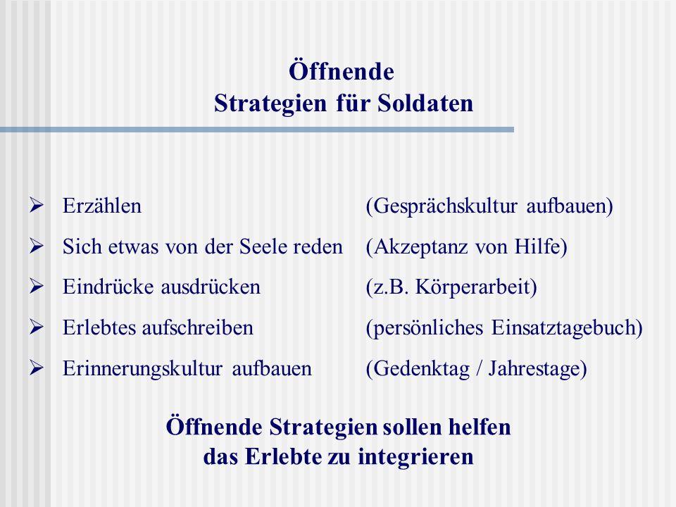 Öffnende Strategien für Soldaten
