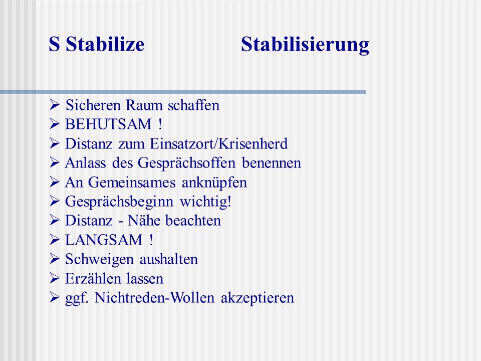 S Stabilize Stabilisierung