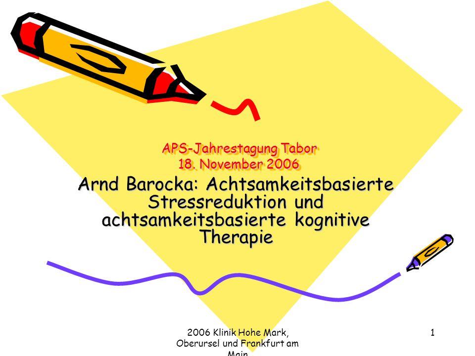 APS-Jahrestagung Tabor 18. November 2006