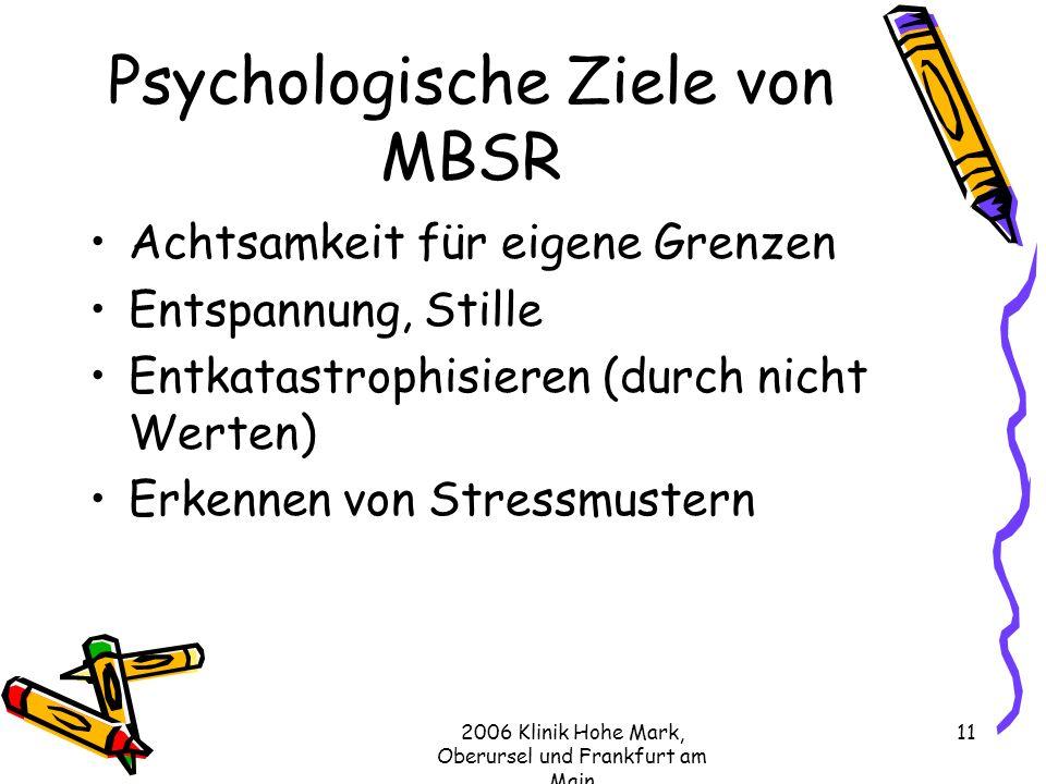 Psychologische Ziele von MBSR