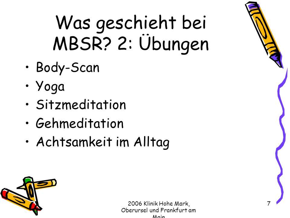 Was geschieht bei MBSR 2: Übungen