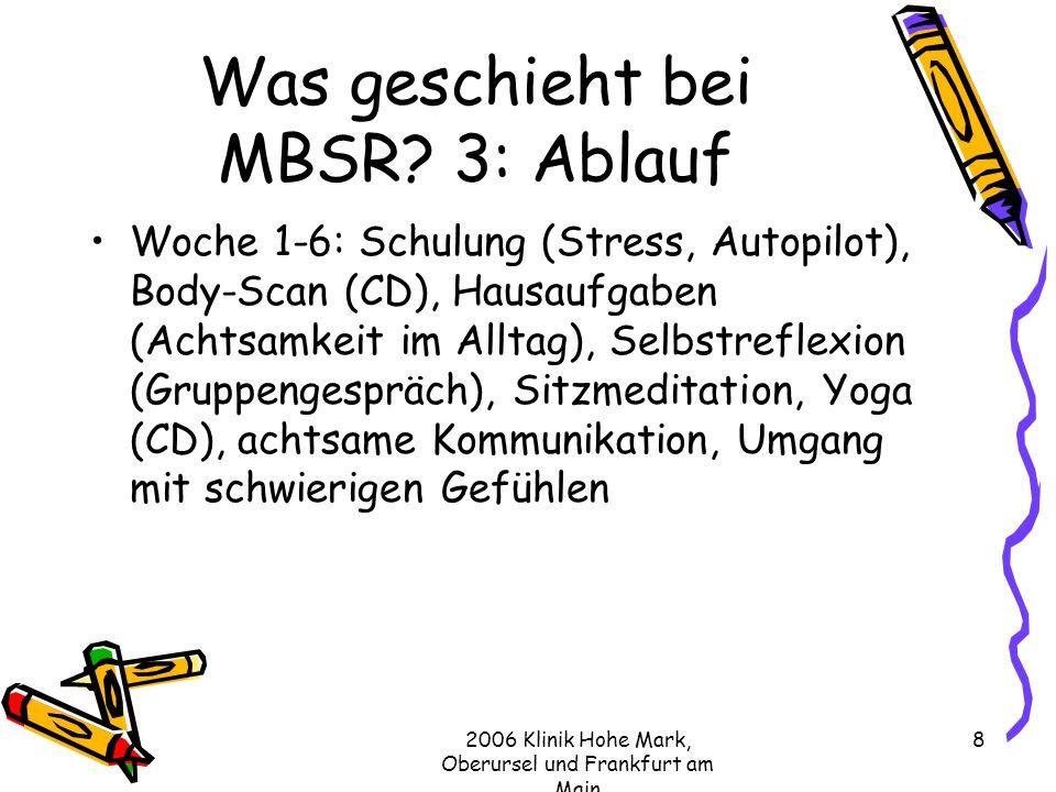 Was geschieht bei MBSR 3: Ablauf