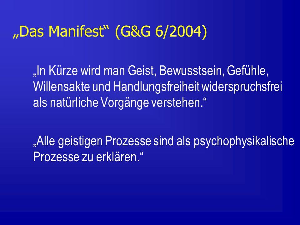 """""""Das Manifest (G&G 6/2004)"""