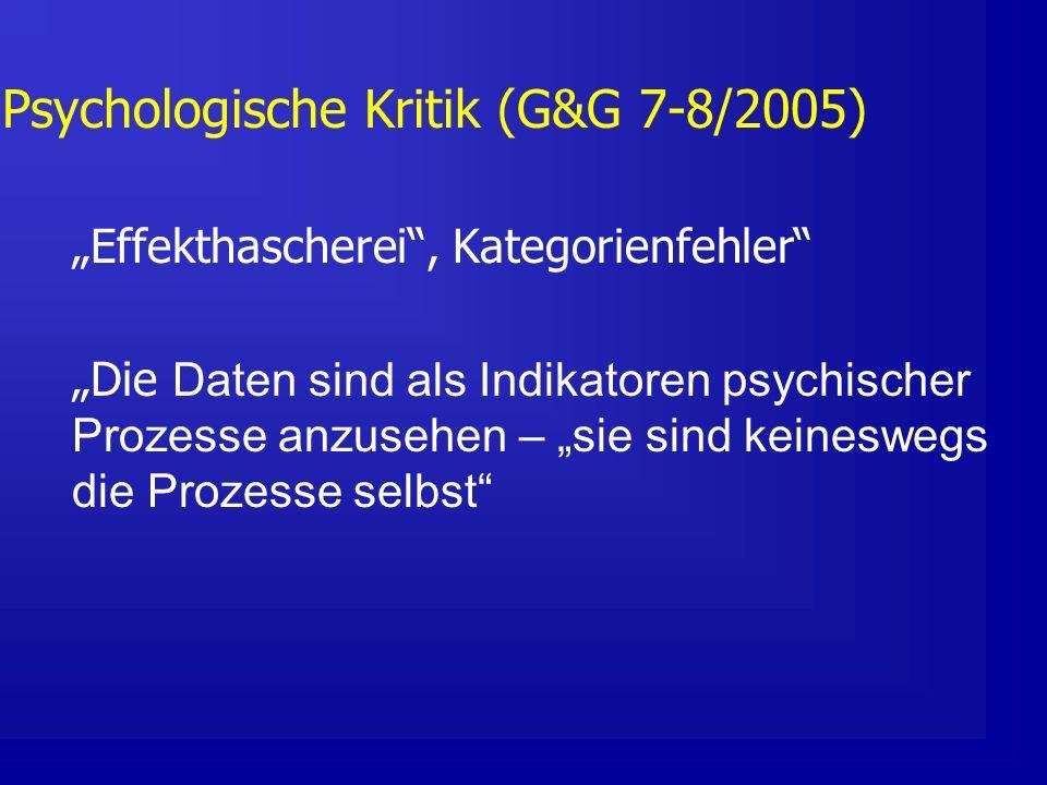 Psychologische Kritik (G&G 7-8/2005)