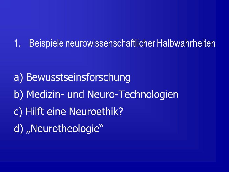 Beispiele neurowissenschaftlicher Halbwahrheiten